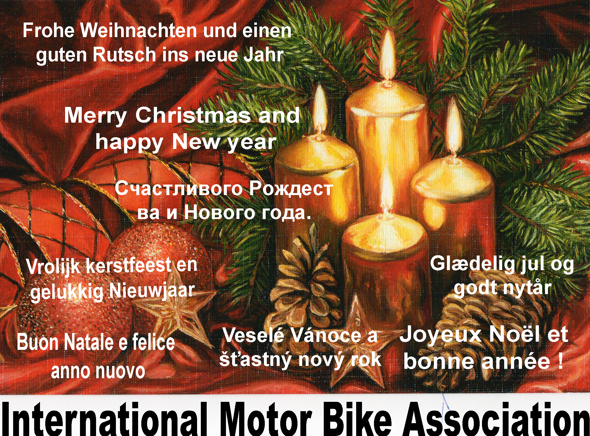 Harley Weihnachtsgrüße.Imba Internationale Motor Bike Association